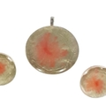 Hand Painted Pendant Set in mainly Grey