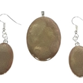 Oval Earrings and Pendant Set in Autumn Hues