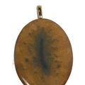 Gold with Blue Band Oval Pendant