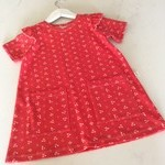 Cherry A-Line dress with pockets  Organic cotton knit