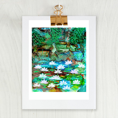'Dream of Kakadu' A4 Reproduction Art Print of original mixed media painting.