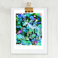 'Leafy Sea Dragon' A4 or A3 Giclee Art Print of original mixed media painting.
