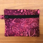 Purple Batik Purse