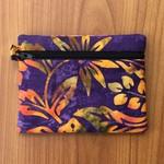 Purple/Gold Batik Purse