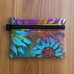 Sunflower Batik Purse