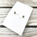 Polymer clay earrings, statement earrings in leopard print gold leaf