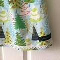 SIZE 1 Girls Christmas DRESS - Snowy Fir Trees