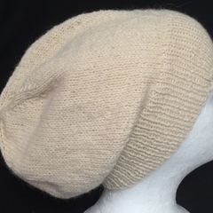 Unisex adult hand knit slouchy/beanieAustralian Alpaca 100% Page 2/2