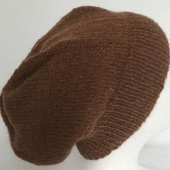 Unisex adult hand knit slouchy/beanieAustralian Alpaca 100% Page 2/3