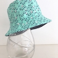 SECONDS- Baby size summer hat in panda fabric