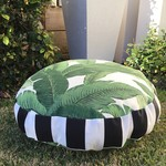 Tommy Bahama tropical palm leaf floor cushion