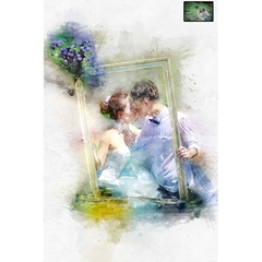 Custom Wedding Portrait, Watercolor, Transform Portrait to Artwork, Custom Portr