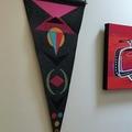 Felt pennant 4 - Modern wall hanging