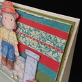 Tilda Sitting on Wall - Any Occasion Card - Birthday, Thank You or Just Because