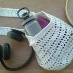 Handmade cotton bag for market, beach or library.