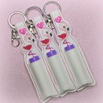 Flamingo Lip Balm Holder | Lip Balm Key Ring | Lip Balm Bag Tag