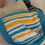 Crochet shopping bags for market, beach or library.