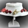 Vintage button necklace - Sparkling Shiraz