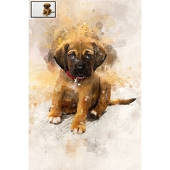 Custom Pet Painting from Photo , Watercolor,Custom Portrait, Painting from Photo