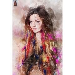 Custom Portrait from Photo, Custom Watercolor, Transform Portrait to Artwork