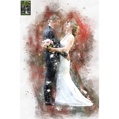 Custom Wedding Painting from Photo, Watercolor, Transform Portrait to Artwork