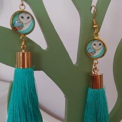 Owl Tassel Earrings