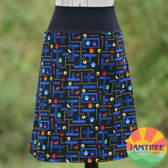 Pac-Man Ladies Skirt with Stretchy Waistband FREE POST