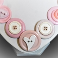 Button necklace- First Love