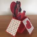Handmade Valentines day card, heart love pop up card, FREE AUSTRALIAN POSTAGE