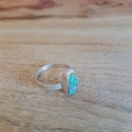 boulder opal silver ring, large, Size AU S