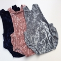 """Dusty Pink Luxe Velvet""Romper size 2"