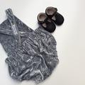 """Grey Luxe Velvet""Romper size 1"