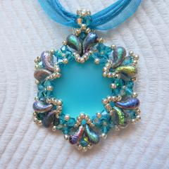 Serendipity Pendant on Ribbon Necklace