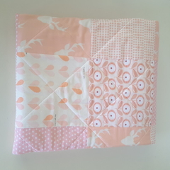 Pink/blush/baby quilt/nursery decor/baby blanket