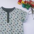 Boy's Henley Style Shirt - Tractors