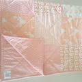 Pink/blush/baby quilt/nursery decor/baby blanket