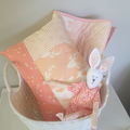 Pink/blush woodland nursery cushion