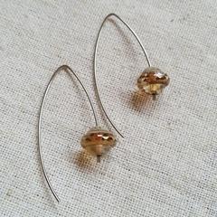 FREE POST Czech glass bead earrings