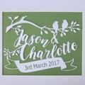 Wedding/Anniversary Papercut - Birds and Banner