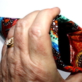 Padded Sunglasses Pouch in Colourful Indigenous Design Fabric