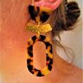 Leopard resin Earring