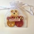 Cotton Reusable Makeup Removal Pads in an Owl design