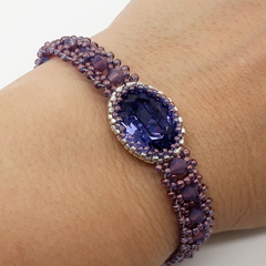 Purple Swarovski Crystal 