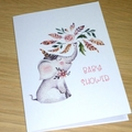 Baby Shower card - boho elephant
