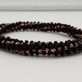 Black and Copper glass Beaded Bracelet Bangle Formal Trendy Boho