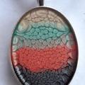 Multi Colour Oval Pendant/Necklace