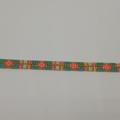 Gold Turquoise Pink Orange Mint Bronze Beaded Bracelet Pattern Bright Boho