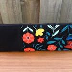 Black Floral Triangle Pencil Case