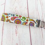 Summer Flowers Key Fob Wrist Strap