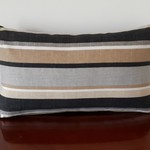 Outdoor/Indoor Striped Oblong  Cushion *